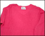 V襟ニットセーター(ピンク)