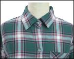 チェック柄ボタンシャツ(グリーン)