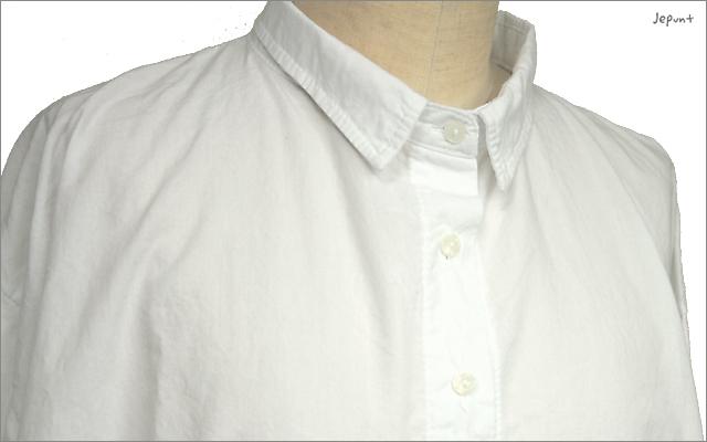 5つボタンゆったりシャツ(ホワイト)