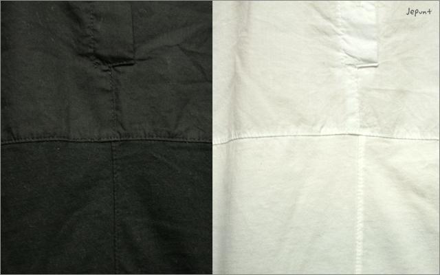 5つボタンゆったりシャツ(ブラック/ホワイト)