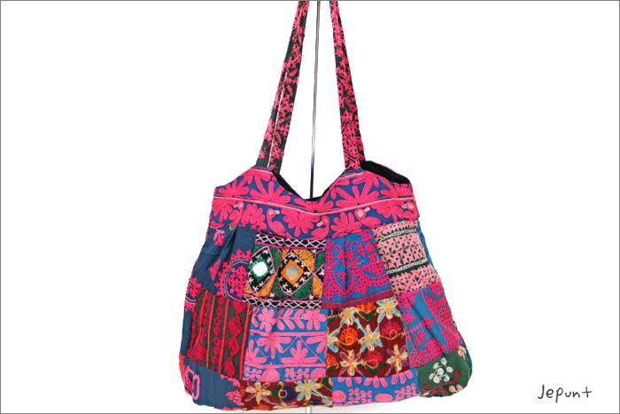 バッグ■ミラーワーク刺繍BAG1のおもて