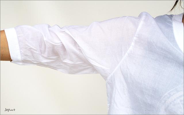 カーディガン■うすかる素材コットン100%七分袖カーディガン ホワイト