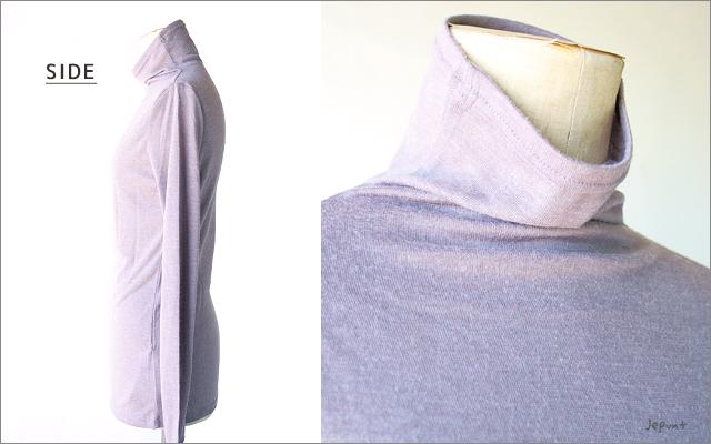 インナー■タートルネック 長袖Tシャツ(ライトパープル)