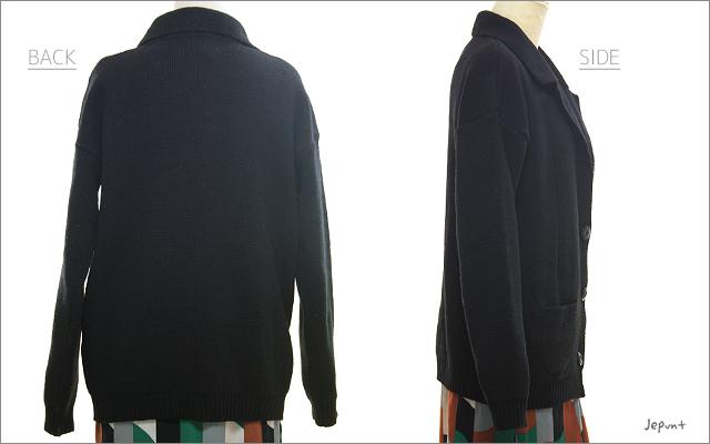 はおりもの■ニット テーラードジャケット カーディガン(ブラック/グレー/ベージュ)