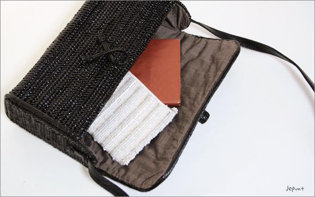 アタバッグ■ポシェット型 肩掛けかごアタバック(ブラック)