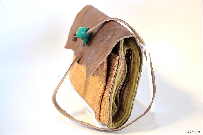 小物■レザー折りたたみ財布(オレンジ)