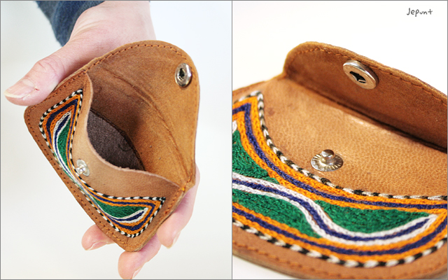 財布■ラクダ革 刺しゅうコインケース 小銭入れ