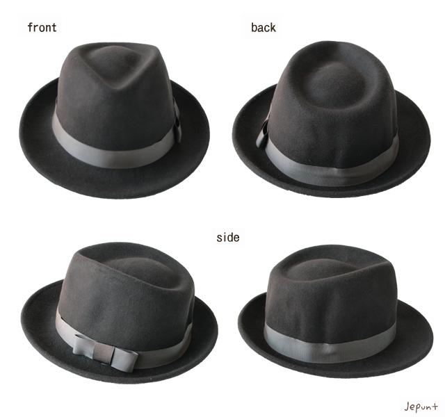 帽子■男女兼用 ウールフェルトハット(中折れ帽)/ブラウン