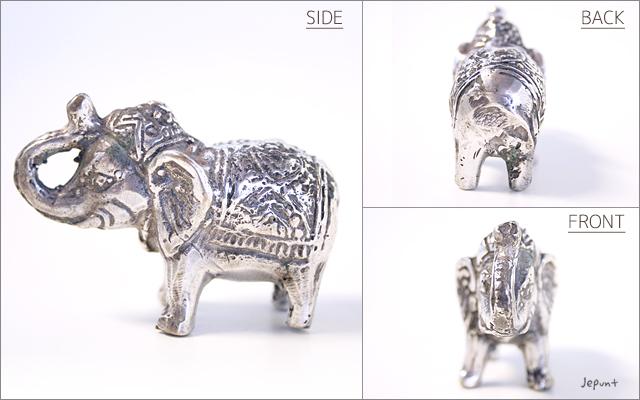 インテリア雑貨■エスニックな象の金属製ミニ置物